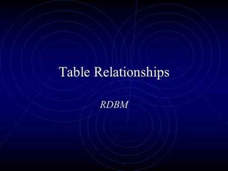 Table Relationships RDBM. Prof. Leighton2 Establishing Table Relationships RDBMS allow us to establish relationships among tables Have a primary key in.