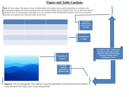 Figure and Table Captions