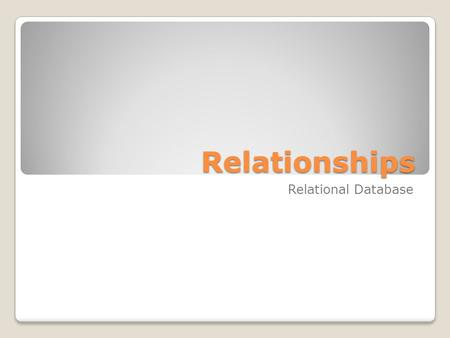 what is a non identifying relationship in er diagramming