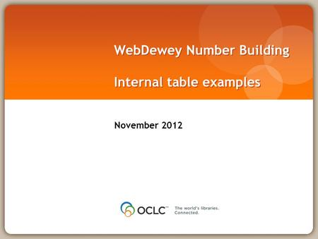 WebDewey Number Building Internal table examples November 2012.