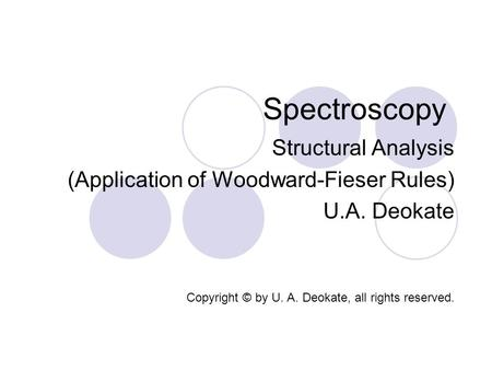 Spectroscopy Structural Analysis