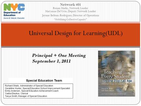 Universal Design for Learning(UDL)