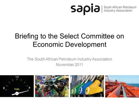 Briefing to the Select Committee on Economic Development The South African Petroleum Industry Association November 2011.