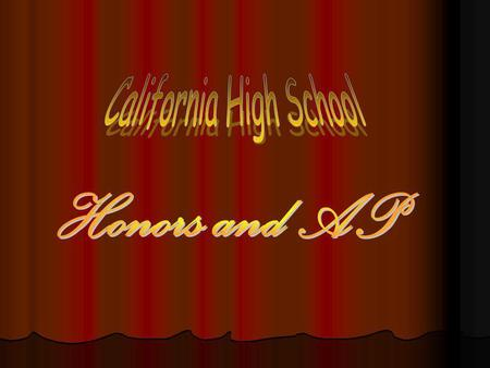 Cal Hi is Currently Offering 16 AP Courses in 6 Different Departments.