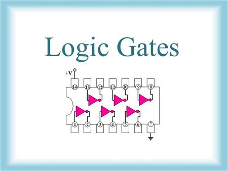 Logic Gates. What are logic gates? Logic gates are the switches that turn ON or OFF depending on what the user is doing! They are the building blocks.