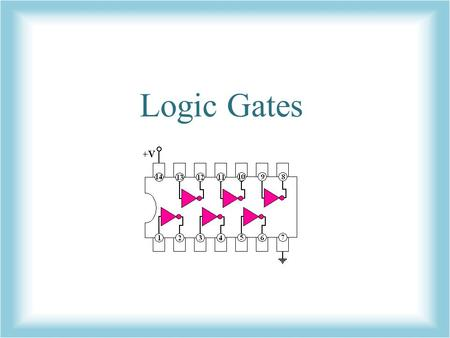 Logic Gates. What are logic gates? In the binary lesson, we discussed the switches inside a computer Logic gates are the switches that turn ON or OFF.