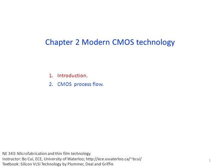 Chapter 2 Modern CMOS technology