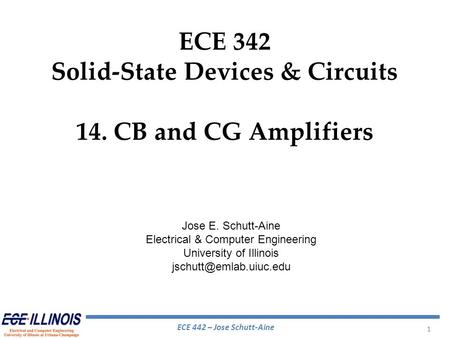 Solid-State Devices & Circuits