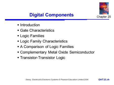 Digital Components Introduction Gate Characteristics Logic Families