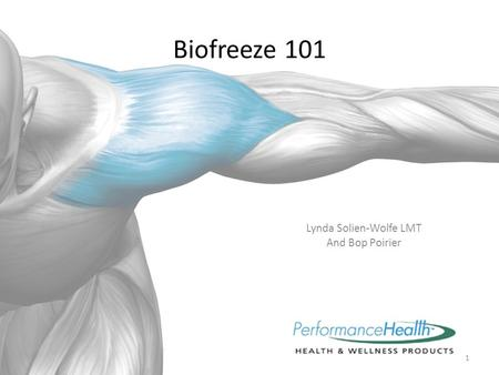 Biofreeze 101 Lynda Solien-Wolfe LMT And Bop Poirier 1.
