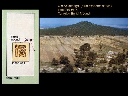 Qin Shihuangdi (First Emperor of Qin) died 210 BCE Tumulus Burial Mound.