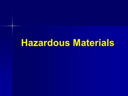 Hazardous Materials. HAZMAT Definition (USDOT) Any substance which may pose an unreasonable risk to health and safety of operating or emergency personnel,