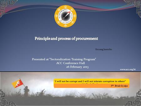Principle and process of procurement