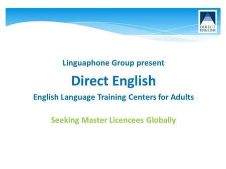 English Language Training Centers for Adults