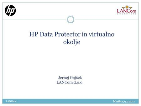HP Data Protector in virtualno okolje