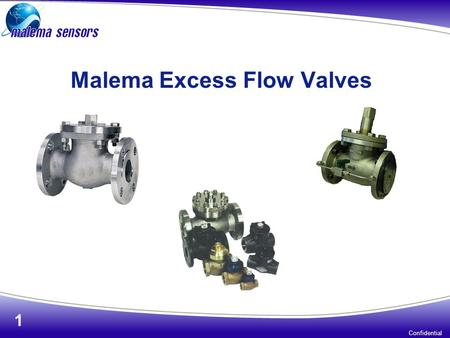 Malema Excess Flow Valves