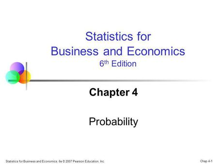 Business and Economics 6th Edition