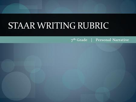 Ninth and Tenth Grade Writing Standards