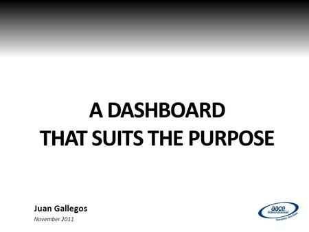 Juan Gallegos November 2011. Objective Objective of this presentation 2.