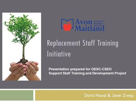 Replacement Staff Training Initiative Doris Hood & Jane Zwep Presentation prepared for OESC-CSEO Support Staff Training and Development Project.