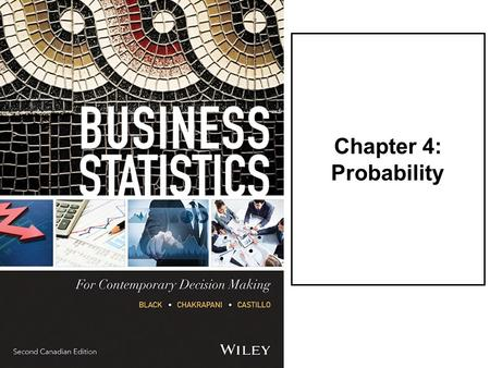 Chapter 4: Probability. LO1Describe what probability is and when one would use it. LO2Differentiate among three methods of assigning probabilities: the.