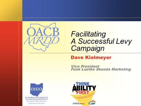 Facilitating A Successful Levy Campaign