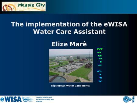 The implementation of the eWISA Water Care Assistant Flip Human Water Care Works Elize Marè.