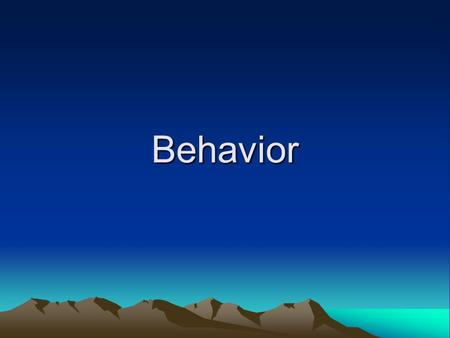 Behavior. Historical Mistakes In Behavior Management: Crisis management at the risk of proactive long term treatment. Behavioral Interventions: –Narrow.