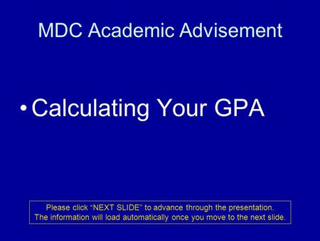 MDC Academic Advisement