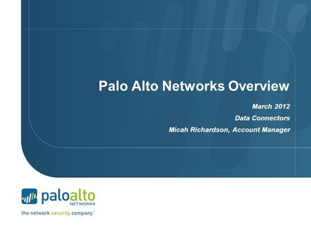 Palo Alto Networks Overview