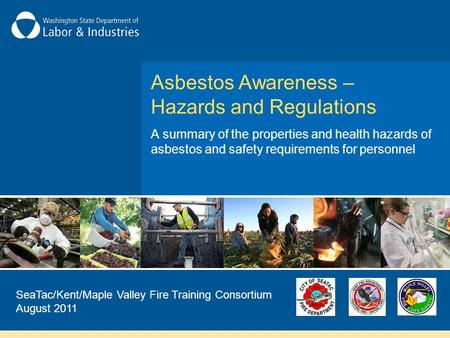 Asbestos Awareness –Hazards and Regulations