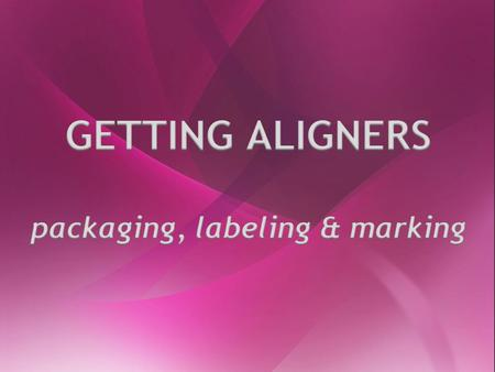 packaging, labeling & marking
