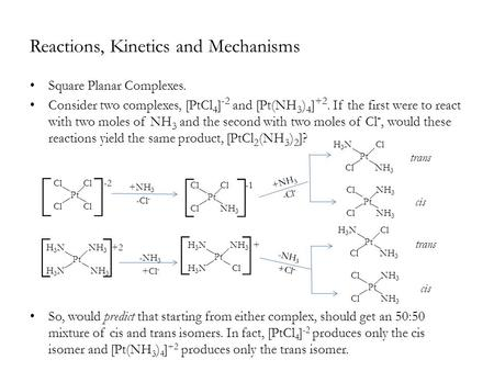 Reactions, Kinetics and Mechanisms