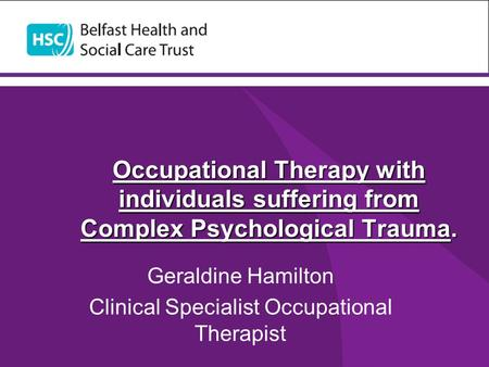 Geraldine Hamilton Clinical Specialist Occupational Therapist