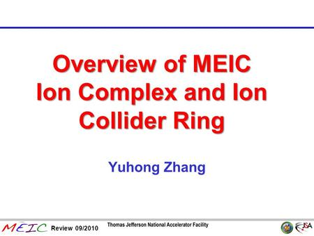 Overview of MEIC Ion Complex and Ion Collider Ring