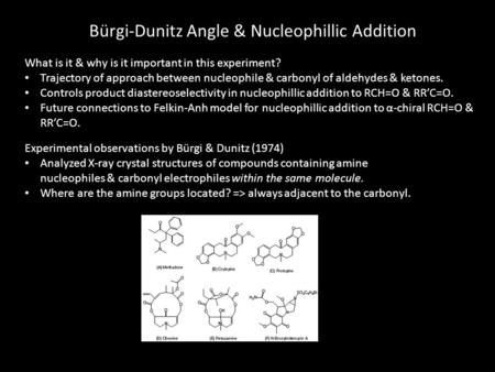 Bürgi-Dunitz Angle & Nucleophillic Addition