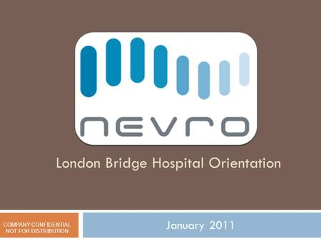 London Bridge Hospital Orientation