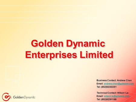 Golden Dynamic Enterprises Limited