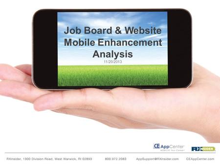 Job Board & Website Mobile Enhancement Analysis 11/20/2013.