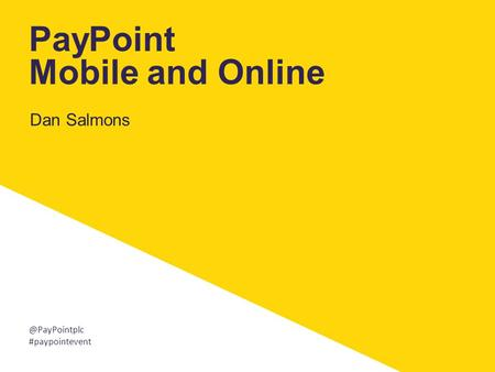 PayPoint Mobile and Online
