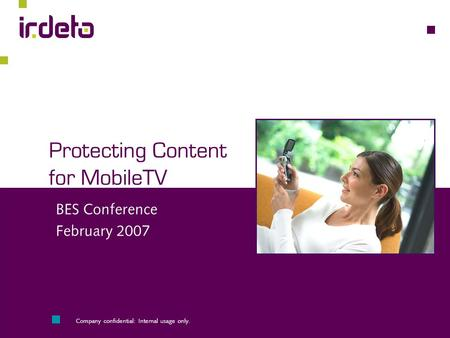 Protecting <strong>Content</strong> for MobileTV