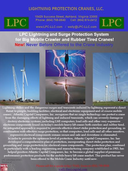 LPC LPC LIGHTNING PROTECTION CRANES, LLC.