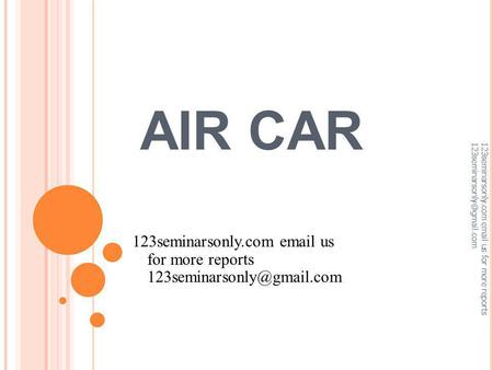 AIR CAR 123seminarsonly.com  us for more reports