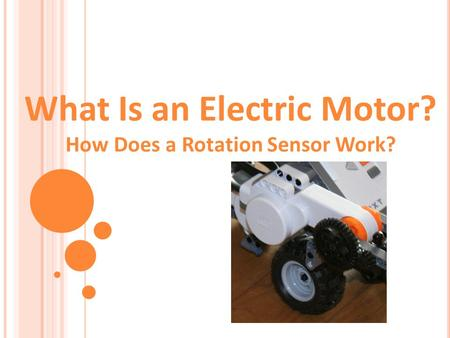 What Is an Electric Motor? How Does a Rotation Sensor Work?