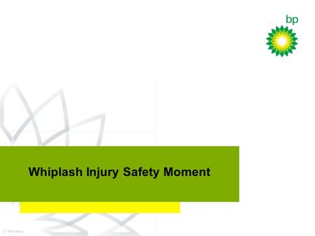 DWX Technology Planning Workshop July 27, 2000 Whiplash Injury Safety Moment S. Petmecky.