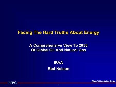 Facing The Hard Truths About Energy