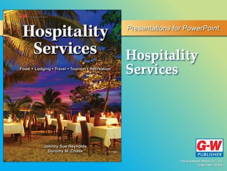 1 The World of Hospitality. 1 The World of Hospitality.