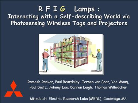 Mitsubishi Electric Research Labs Raskar, Beardsley, vanBaar, Wang, Dietz, Lee, Leigh, Willwacher R F I G Lamps Ramesh Raskar, Paul Beardsley, Jeroen van.