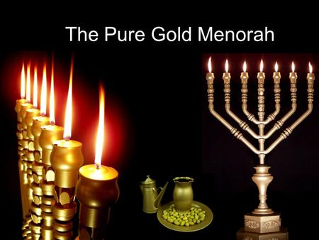 The Pure Gold Menorah. Ex 25:31-40 31 You shall also make a lampstand of pure gold; the lampstand shall be of hammered work. Its shaft, its branches,