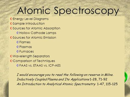 Atomic Spectroscopy Energy Level Diagrams Sample Introduction